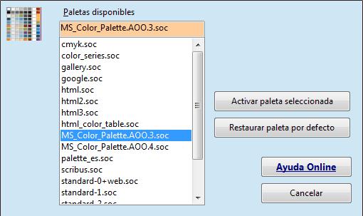 ooEs Palette para OpenOffice
