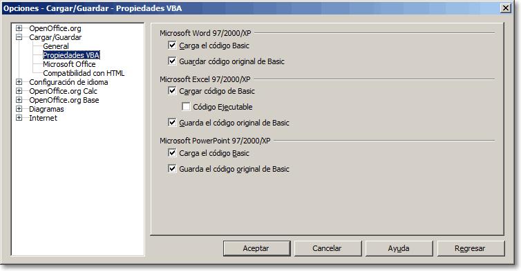 Las macros de MSO Excel y OpenOffice Calc - Manual de Apache