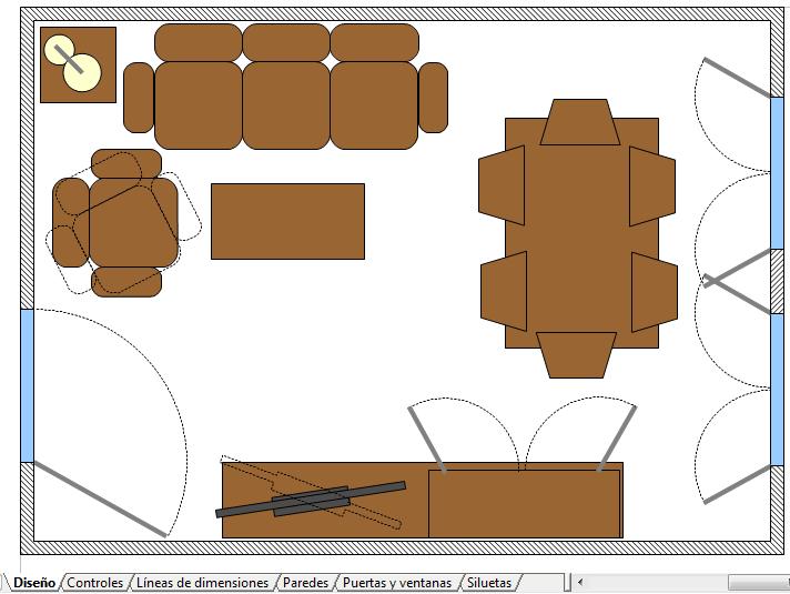 Ejemplo De Plano De Una Casa Y Sus Muebles Manual De